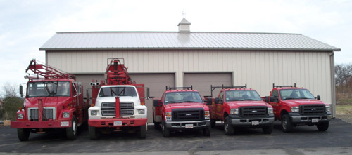 Some of our drilling and service fleet