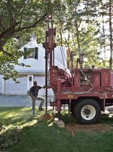 Well drilling in Duxbury, MA